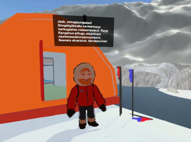 VR computerspil undervisning grønland gletcher